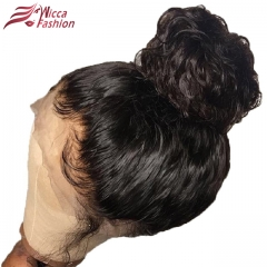 Wiccawigs Customized 360 Glueless Lace  Human Hair Wigs With Baby Hair Bleached Knots