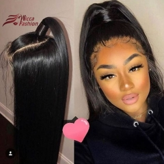 Wiccawigs Customized 360 Glueless Lace Wigs Silky Straight Human Hair Lace Wigs With Baby hair
