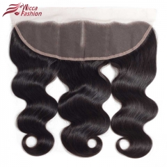 Brazilian Remy Human Hair  Frontal  Straight 13x4 Bleached Knots Baby Hair
