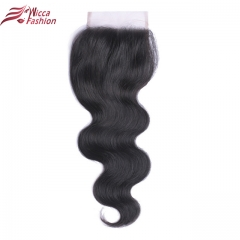 Brazilian  4x4 Lace Closure  Color 100% Remy Human Hair  With Baby Hair
