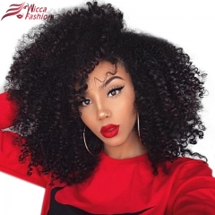 Wiccawigs Customized Kinky Curly Human Hair Wig With Pre Plucked Hairline For Women Remy Curly Lace Front Human Hair Wigs
