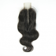 Brazilian Body Wave Hair Closure 2x6 Natural Color 100% Remy Human Hair