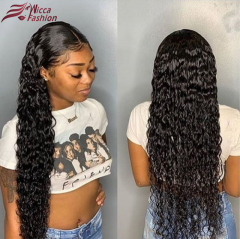 Wiccawigs Customized Jerry Curly Glueless  Lace Wig With Baby Hair Brazilian  Human Hair Lace Wigs Pre Plucked Hairline