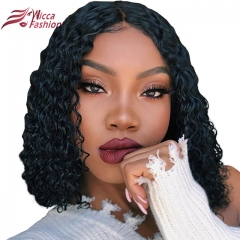 Wiccawigs Customized  Curly Bob Glueless Lace Front Wigs With Baby Hair