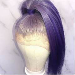 Wiccawigs Customized Light Purple Glueless Lace Wigs With Baby Hair Pre Plucked