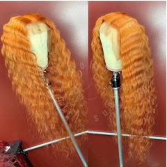 Wiccawigs Customized Orange Color Glueless Full  Lace Wigs