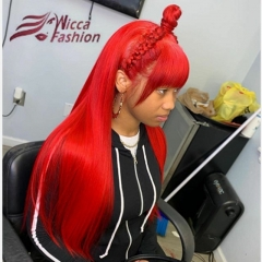 Wiccawigs Customized Glueless Lace Front Wigs Brazilian Virgin Silk Straight With Baby Hair Full Lace Wigs 8-26inches