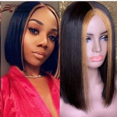 Wiccawigs Customized Highlights Short  Bob Lace Front Wig Brazilian Glueless Full Lace Wigs With Baby Hair