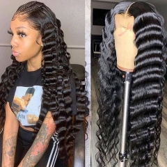 10A Wiccawigs  Loose Deep Wave Glueless Full Lace Wigs With Baby Hair Pre Plucked Hairline