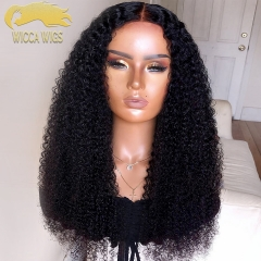Wiccawigs 12A Customized  Brazilian Wet Curly Glueless Lace Front  Wigs With Baby Hair Pre Plucked Hairline
