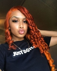 Wiccawigs Customized Ginger Color Full Lace Wigs With Baby Hair Pre Plucked Hairline