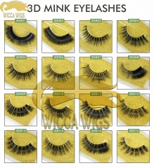 Wiccawigs 3D Mink Eyelashes Fluffy Dramatic Hand Made Natural Eyelashes Makeup Wispy Mink Lashes Natural Long False Eyelashes Thick Fake Lashes
