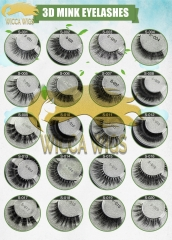 Wiccawigs 3DMink Eye Lashes Hand Made Natural Fake Eyelashes Soft Dramatic Eye Lashes For Makeup Cilios Mink