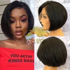 Wiccawigs Customized Lace Front Wigs Glueless Short Bob Full Lace Wigs With Baby Hair