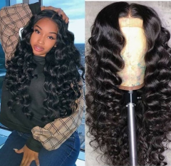WICCAWIGS Customized  Gluesless Lace Front Wigs with Baby Hair Pre Plucked Hairline
