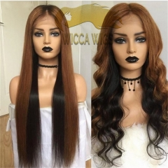 Wiccawigs Customized Full Lace Wigs With Baby Hair Glueless Lace Front Wigs Pre Plucked Hairline