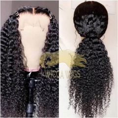Lace Front Curly Brazilian Full Lace Wiccawigs Customized Wigs With Baby Hair Pre Plucked Hairline