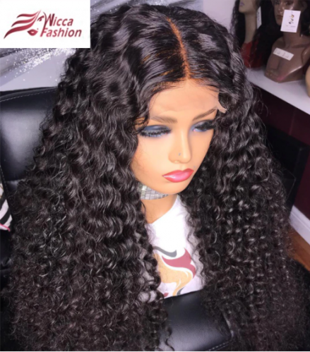 Wicca Luxury girls wigs romantic remy hair lace front wigs for black beauty